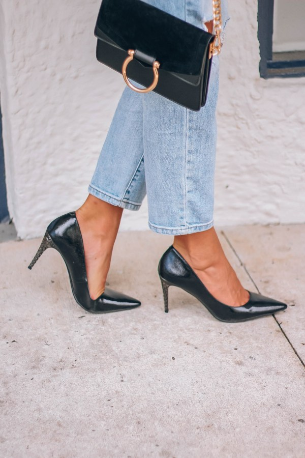 The Perfect Little Black Heel